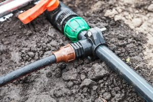 component used for dripping system installation in the vegetable garden-min