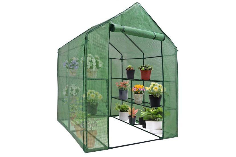 Nova Microdermabrasion Mini Walk-in Greenhouse Indoor Outdoor -2 Tier 8 Shelves Review