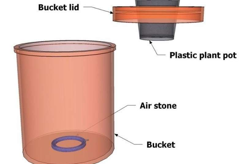 5-gallon bucket Deep Water Culture Hydroponics